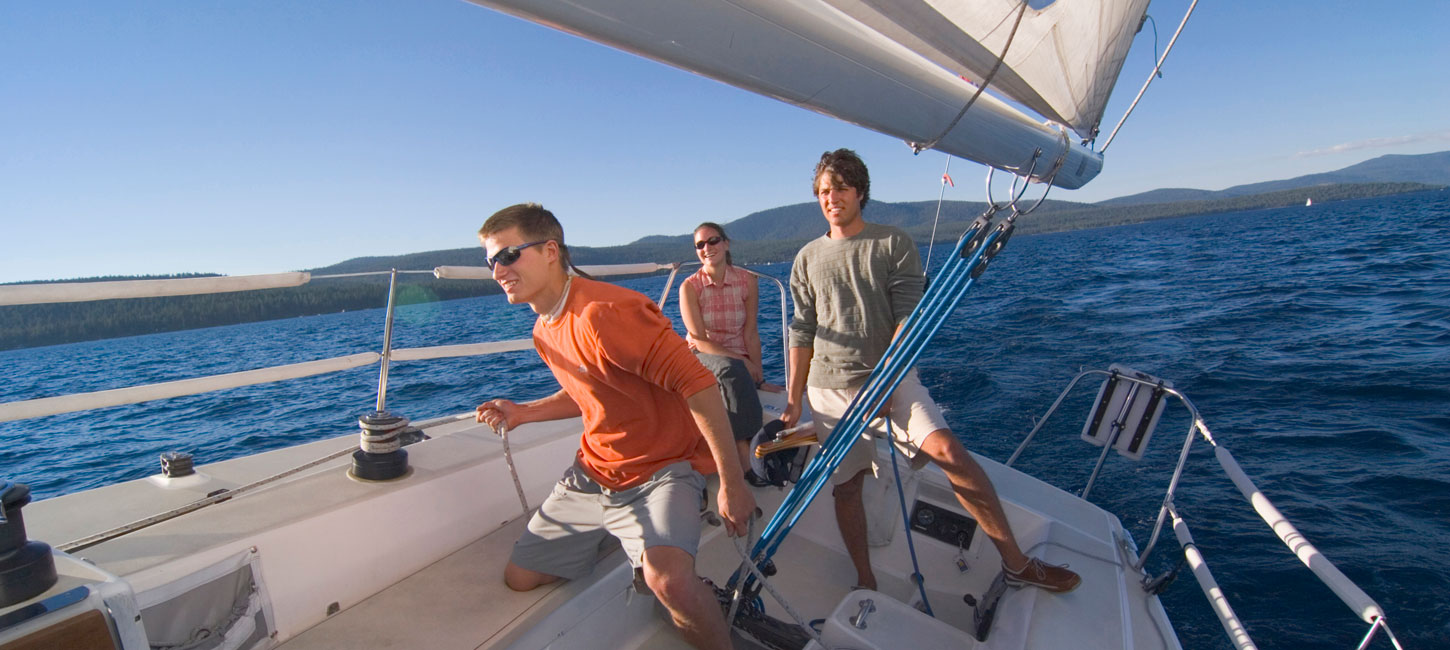 group of people sailing
