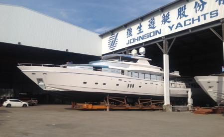 Technical Launch of 108' Johnson Yacht